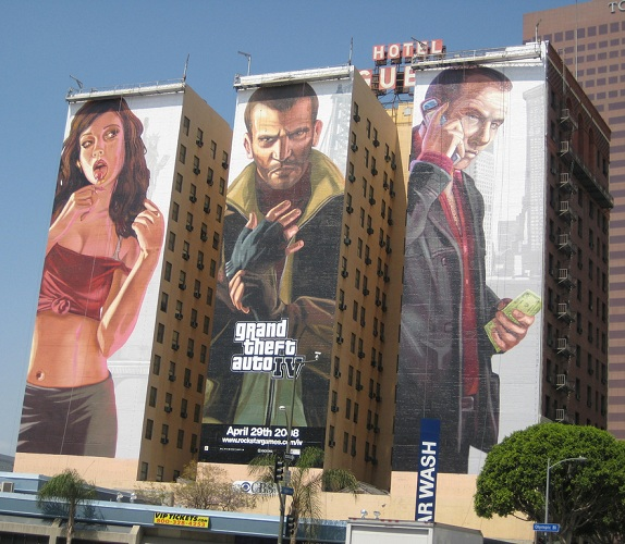 grand theft auto billboard building