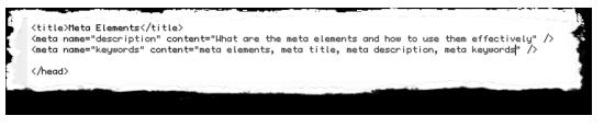 meta elements
